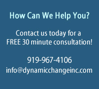 How Can We Help You? Contact Us today for a free 30 minute consultation for North Carolina leadership team personal coaching training